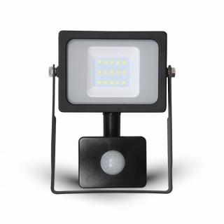 V-TAC VT-4911 Faretto LED SMD 10W Ultra Sottile Slim da esterno Con Sensore Nero