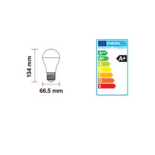 Disegno tecnico V-Tac VT-2017 Lampadina LED E27 17W Bulbo A65 200°