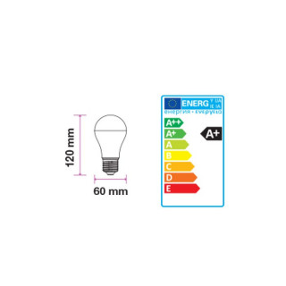 Disegno tecnico V-Tac VT-1864D Lampadina LED E27 12W Bulbo A60 Dimmerabile