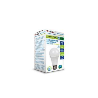 Confezione V-Tac VT-1864D Lampadina LED E27 12W Bulbo A60 Dimmerabile
