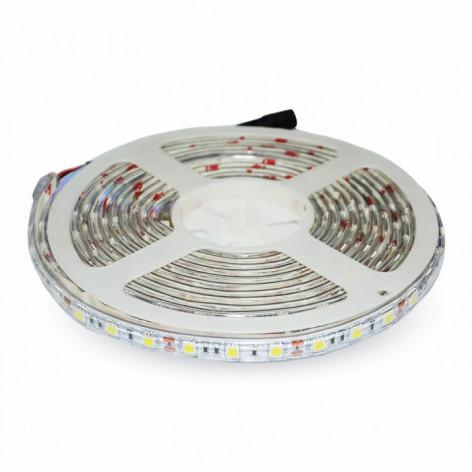 V-Tac VT-5050 Striscia LED SMD 5050 Impermeabile RGB 30 LED/metro in bobina da 5 metri