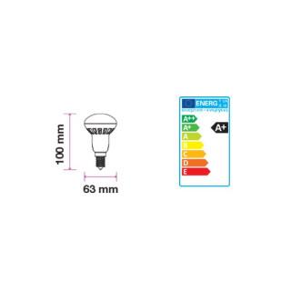 Disegno tecnico V-Tac VT-1862 Lampadina LED E27 8W Reflector R63