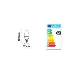 Disegno tecnico V-Tac VT-1855 Lampadina LED E14 6W Candela