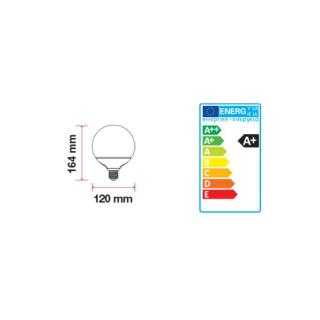 Disegno tecnico V-Tac VT-1899 Lampadina LED E27 18W Globo G120