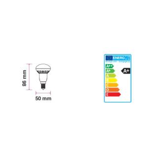 Disegno tecnico V-Tac VT-1876 Lampadina LED E14 6W Reflector R50