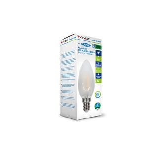 Confezione Lampadina LED E14 4W Candela Effetto Ghiaccio Filamento