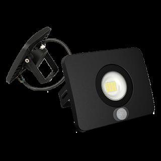 Faro Proiettore LED SMD 50W Ultra Sottile da esterno Nero con Sensore 120°