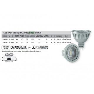Info tecniche Wiva Faretto LED GU5.3 MR16 5W SMD Spotlight 36° 12100206