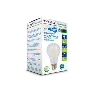 Confezione - Lampadina LED E27 5W Bulbo A60 Filamento Effetto Ghiaccio