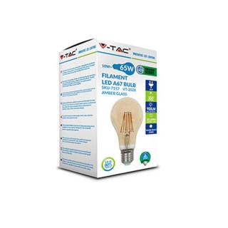 Confezione - Lampadina LED E27 10W Bulbo A67 Filamento Ambrata Vintage