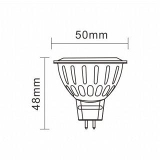 Disegno tecnico - MARINO CRISTAL SERIE PRO Faretto LED GX5.3 MR16 7W COB Spotlight 60° RFL-COB-7