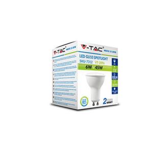 Confezione  - V-Tac Faretto LED GU10 6W SMD Spotlight grigio 110° - SKU 7310 / 7311 / 7312