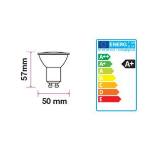 Disegno tecnico -  V-Tac Faretto LED GU10 6W SMD Spotlight grigio 110° - SKU 7310 / 7311 / 7312