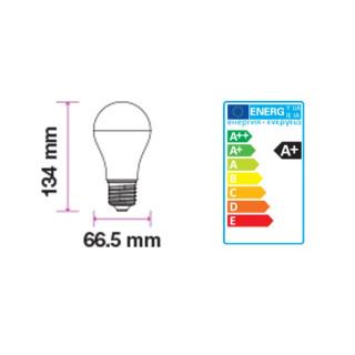 V-Tac PRO Lampadina LED E27 17W Bulbo A66 200° - Disegno tecnico