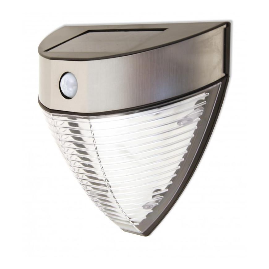 VELAMP SL235 Lampada da Muro LED 2,2W con Pannello Solare e Sensore Di Movimento