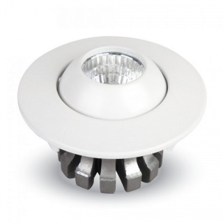 Faretto Downlight LED da Incasso 3W COB Rotondo con testina orientabile