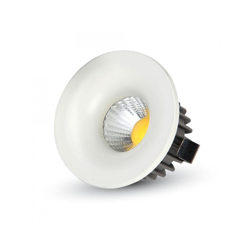V-Tac VT-1123 RD Faretto Downlight LED da Incasso 3W COB Rotondo