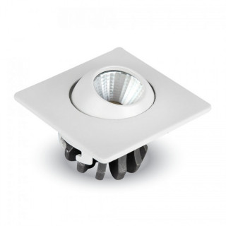 V-Tac VT-1133 SQ  Faretto Downlight LED da Incasso 3W COB Quadrato con testina orientabile