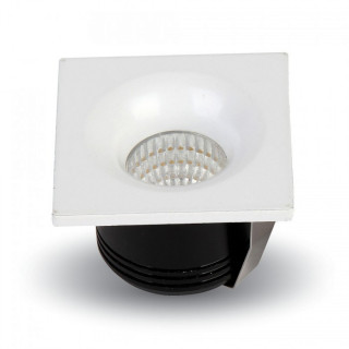 V-Tac VT-1123 SQ Faretto Downlight LED da Incasso 3W COB Quadrato