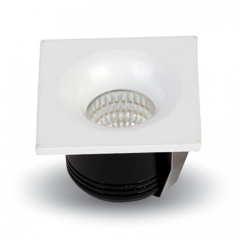 V-Tac VT-1123 SQ Faretto Downlight LED da Incasso 3W COB Quadrato