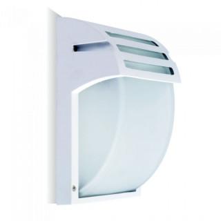 V-Tac VT-754 Portalampada Da Giardino Wall LIGHT Da Muro per Lampadine E27 IP44 Colore Bianco