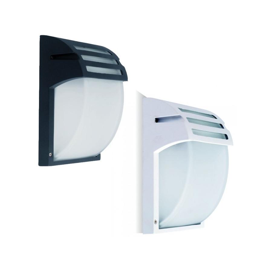 V-Tac VT-754 Portalampada Da Giardino Wall LIGHT Da Muro per Lampadine E27 IP44 Colore Nero e Bianco