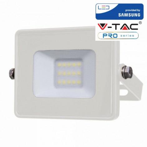 V-TAC PRO VT-10 Faro Proiettore LED SMD 10W Ultra Sottile da esterno Bianco Con Chip Samsung
