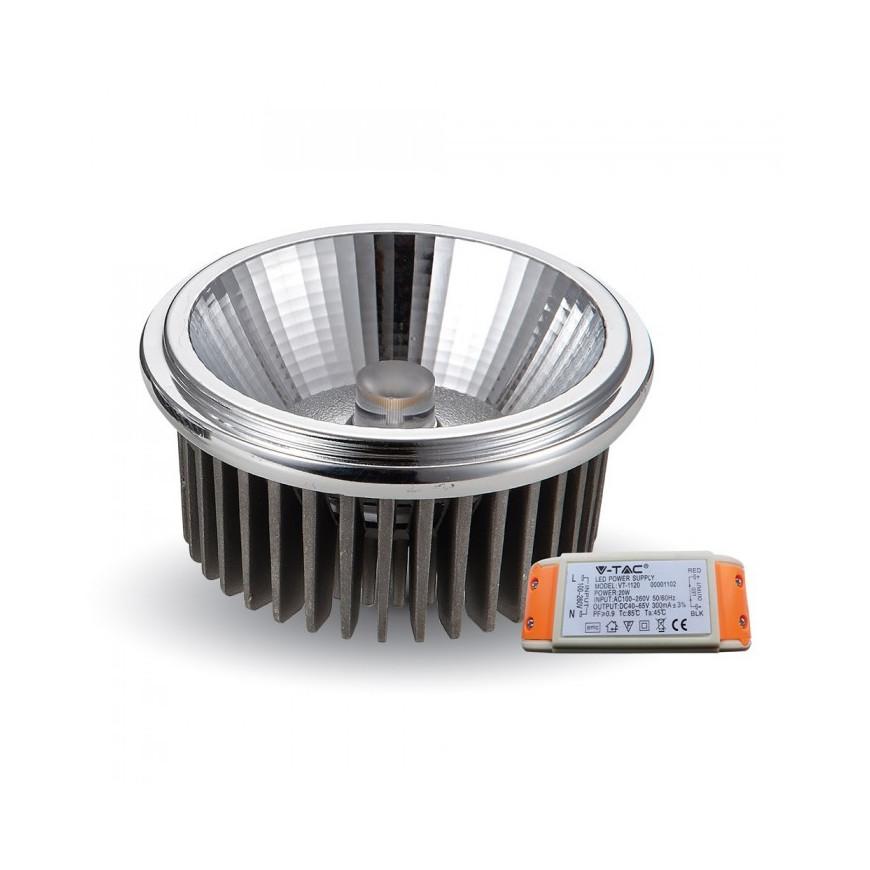 V-Tac VT-1120 Faretto Downlight LED AR111 20W COB 40° da Incasso