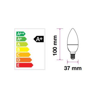 Disegno tecnico V-Tac VT-226 Lampadina LED E14 6W Candela