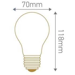 Lampadina LED E27 10W Bulbo A70 Filamento Effetto Ghiaccio