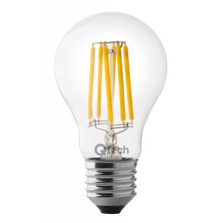 QTECH Lampadina LED E27 6W Bulbo A60 Filamento con fosfori