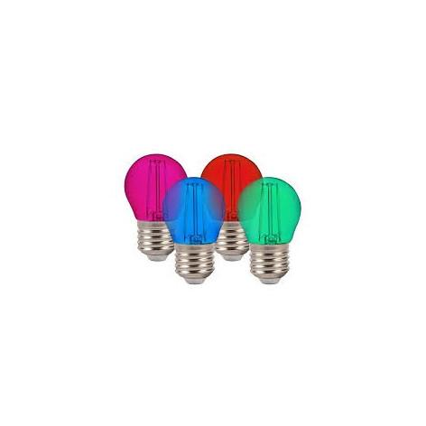 V-TAC VT-2132 Lampadina LED E27 2W Miniglobo G45 Filamento Colorata
