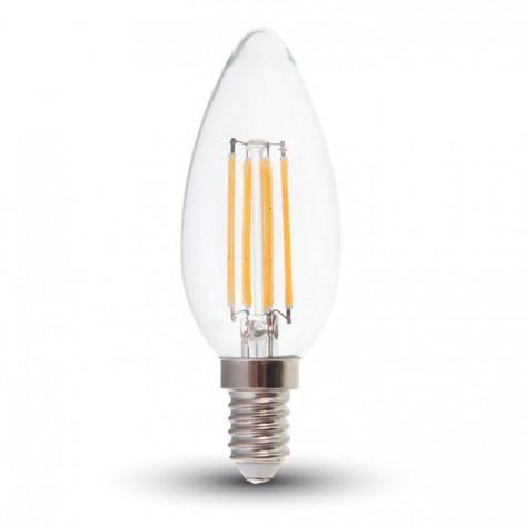 V-Tac VT-2127 Lampadina LED E14 6W Candela Filamento