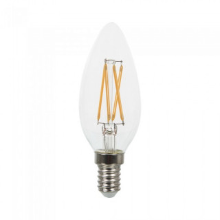 VT-254 Lampadina LED E14 4W Candela Filamento Con Chip LED Samsung