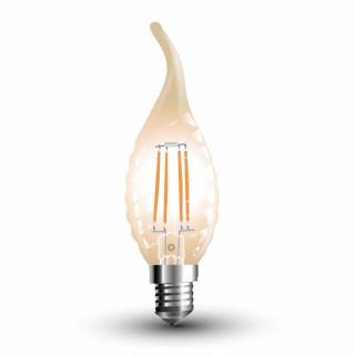 V-TAC VT-1947 Lampadina LED E14 4W Candela Fiamma Twist Filamento Ambrata