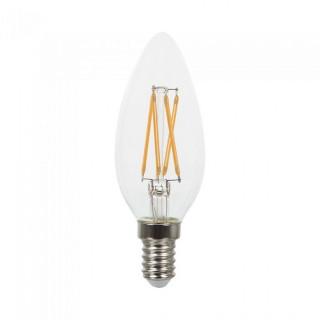 V-Tac VT-1985 Lampadina LED E14 4W Candela Twist Cross Filamento