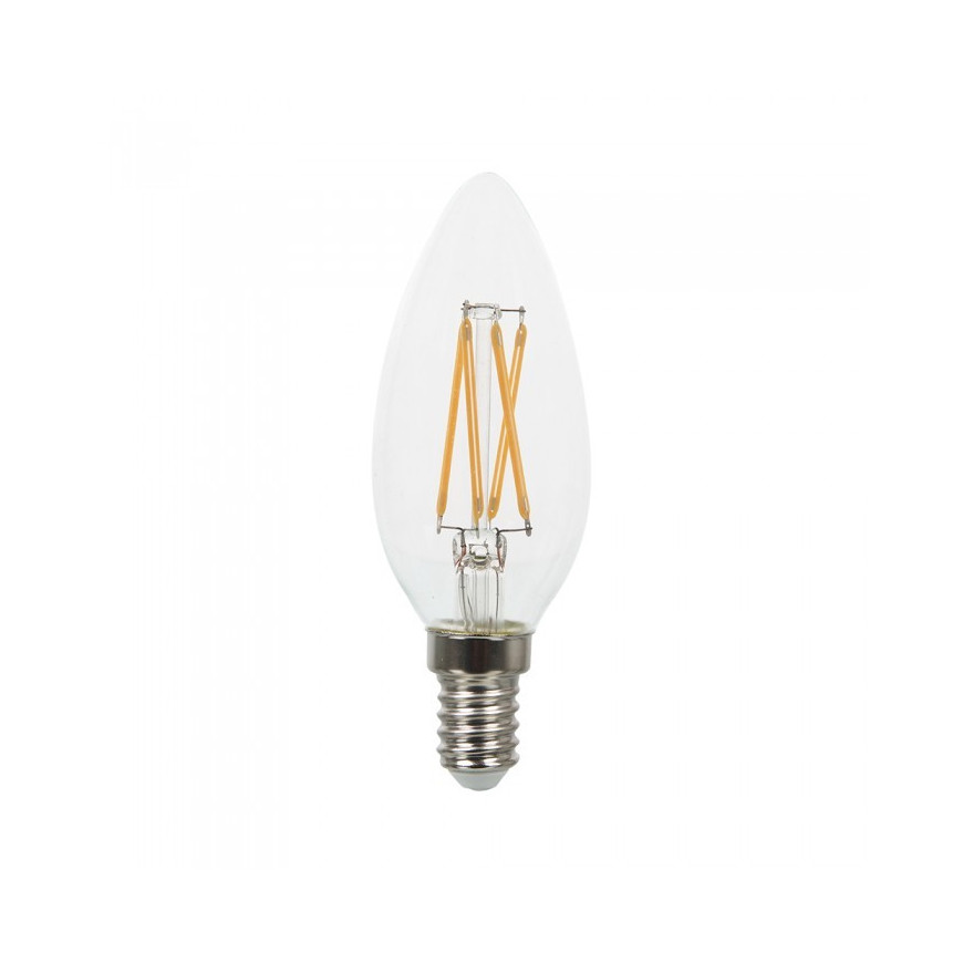 Lampadina led V-TAC 4W = 40W E14 VT-1997 a fiamma filamento candela lampadine