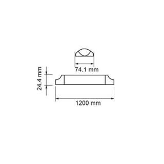 V-TAC PRO VT-8-40 Tubo LED Plafoniera Prismatico 40W 120cm con Chip Samsung