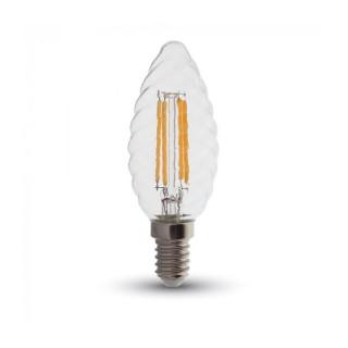 V-TAC VT- 1985 Lampadina LED E14 4W Candela Twist Cross Filamento