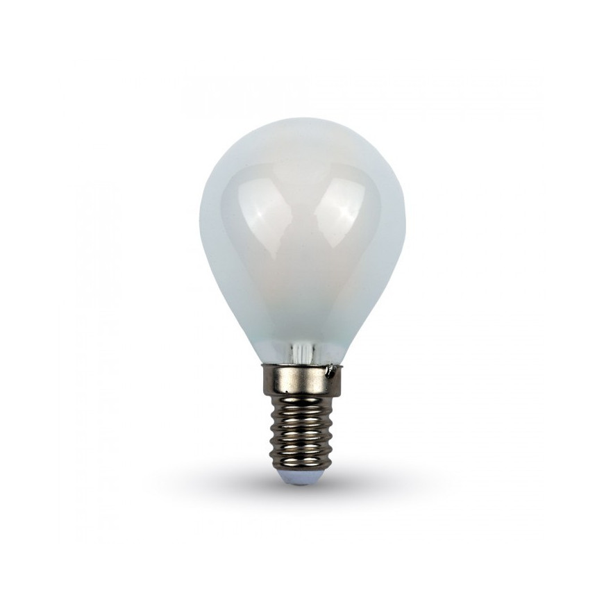 V-Tac VT-1835 Lampadina LED E14 4W Miniglobo P45 Filamento Effetto Ghiaccio