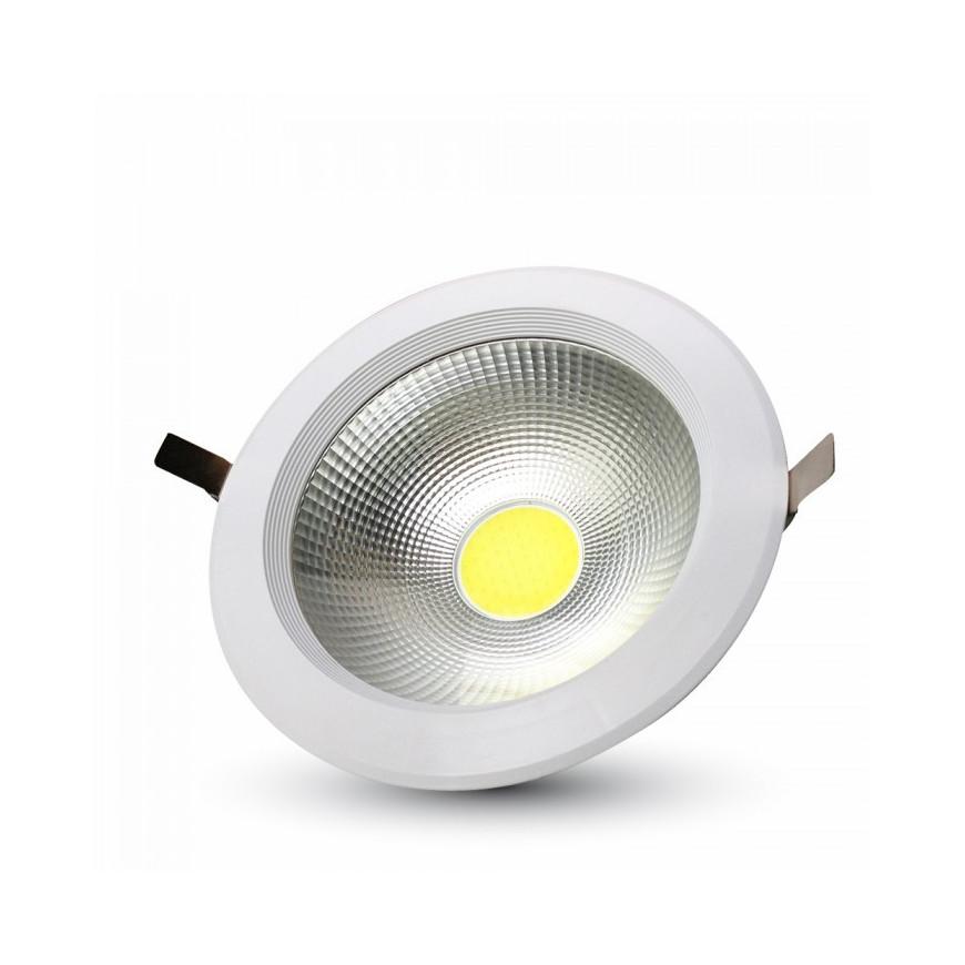 V-Tac VT-2610 Faretto Downlight LED da Incasso 10W COB Rotondo