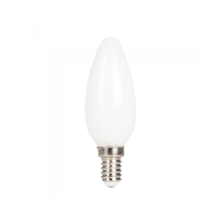 V-Tac VT-1924 Lampadina LED E14 4W Candela Cross Filamento Vetro Bianco