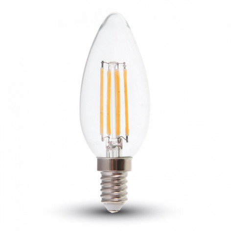 V-Tac PRO VT-245D Lampadina LED E14 4W Candela Filamento Dimmerabile con Chip LED Samsung