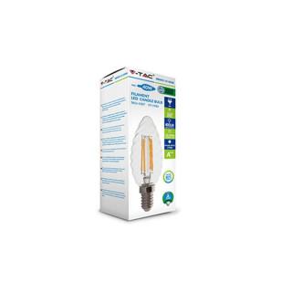 Confezione V-Tac PRO VT-274 Lampadina LED E14 4W Candela Spirale Filamento con Chip LED Samsung