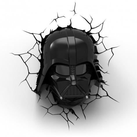 3DLightFX Star Wars Lampada LED 3D Darth Vader Deco Light a batteria