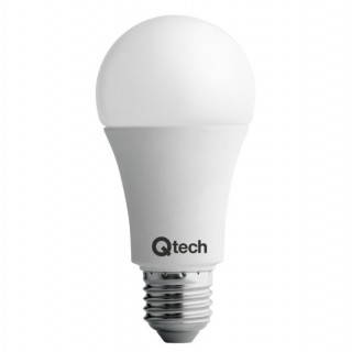 QTech Lampadina LED E27 12W Bulbo A60 240° Dimmerabile