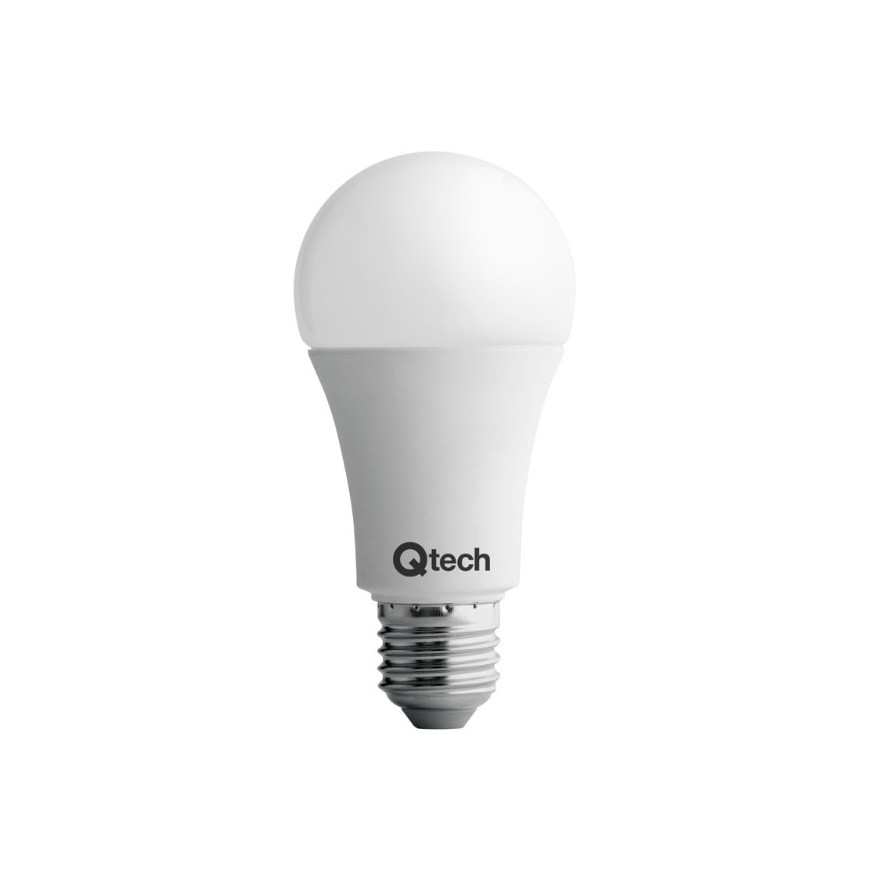 QTech Lampadina LED E27 12W Bulbo A60 240° Dimmerabile