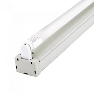 Plafoniera Singola con Tubo LED T8 G13 22W Lampadina 150 cm (tubo incluso) con Chip LED Samsung