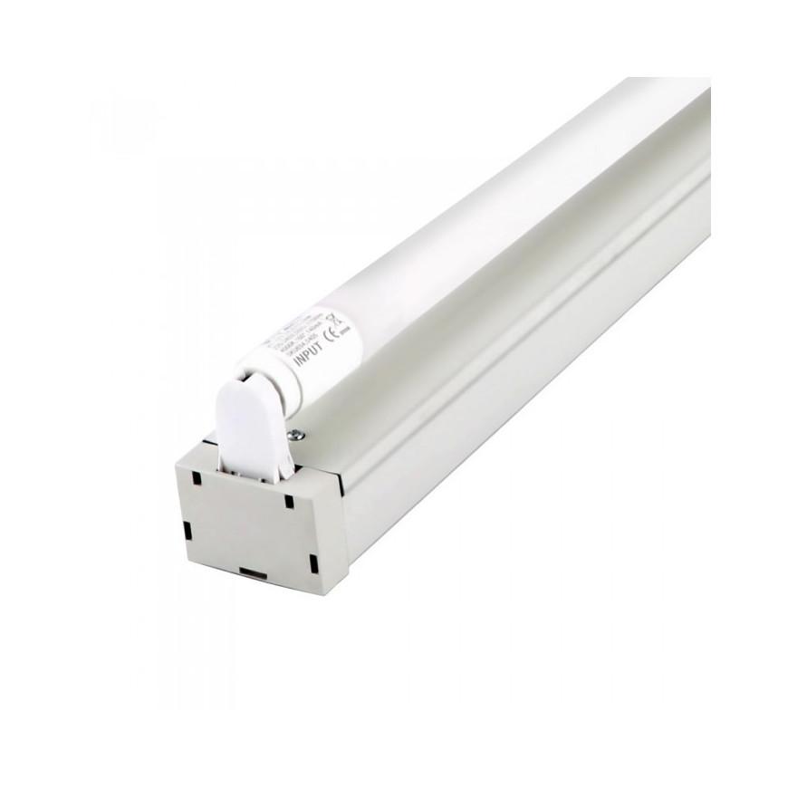 Plafoniera Singola con Tubo LED T8 G13 18W Lampadina 120 cm (tubo incluso) con Chip LED Samsung