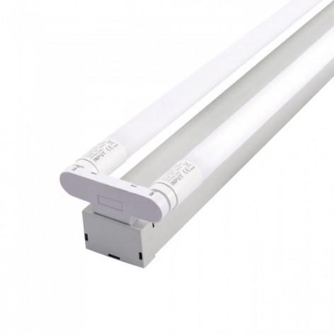 Plafoniera Doppia con Tubi LED T8 G13 36W Lampadina 120 cm (tubi inclusi) con Chip LED Samsung